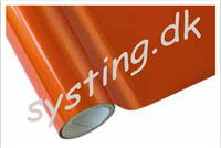Deco foil mat orange 10
